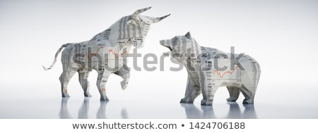 Bear And Bull Investor Stock photo © Lightsource