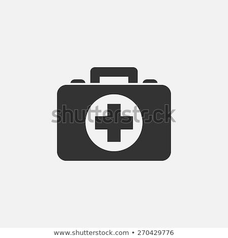 First aid case flat icon with shadow Stock photo © nezezon