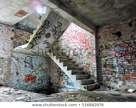 Escada abandonado edifício velho arquitetura Foto stock © njnightsky