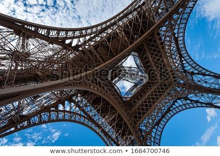 Soyut görmek ayrıntılar Eyfel Kulesi Paris Fransa Stok fotoğraf © meinzahn