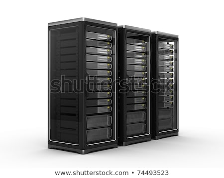 servidor · unidade · baixo · perfil · isométrica · 3D - foto stock © vectorminator