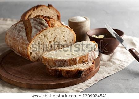 Pan pan mantequilla rojo desayuno Foto stock © Digifoodstock