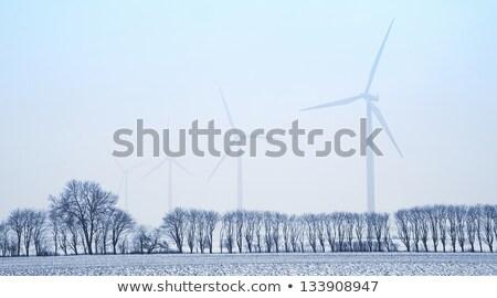 Stock fotó: Elektomos · torony · természet · hó · kábel · felhő