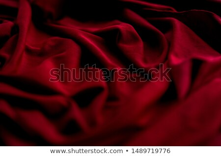 Stock fotó: Közelkép · piros · szatén · szövet · absztrakt · háttér