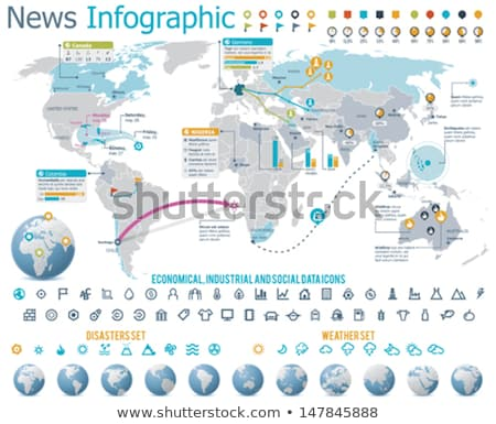 An infographics showing the globe Stock photo © bluering