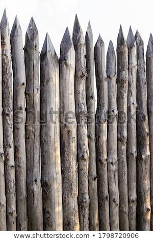 フェンス · デザイン · 背景 · 金属 · 石 · 安全 - ストックフォト © devon