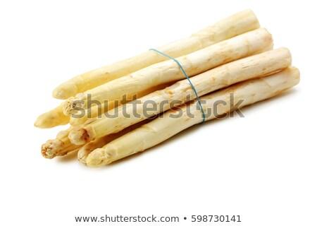 taze · beyaz · kuşkonmaz · rustik · ahşap · gıda - stok fotoğraf © digifoodstock