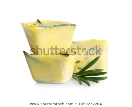 ice cubes with rosemary olive oil isolated stock photo © marimorena