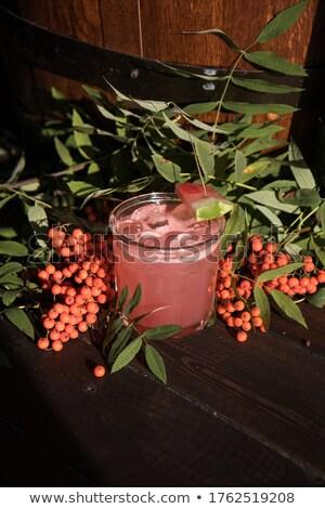 Rood cocktail geïsoleerd witte bloem Stockfoto © brulove
