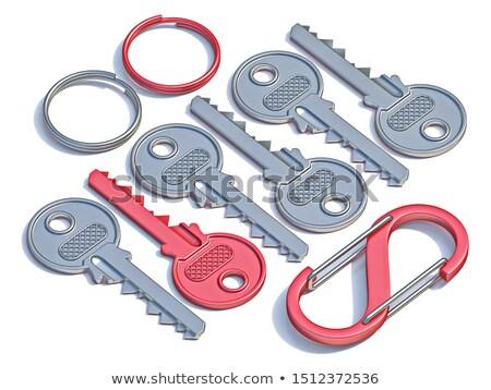łańcucha · czerwony · pierścień · 3D · obraz · budowy - zdjęcia stock © ISerg