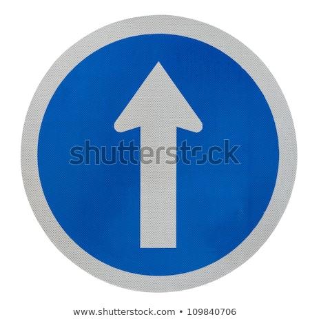 figyelmeztető · jel · tér · vektor · kék · ikon · terv - stock fotó © boroda