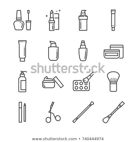 Proszek szminki tusz do rzęs odizolowany biały Zdjęcia stock © Serg64