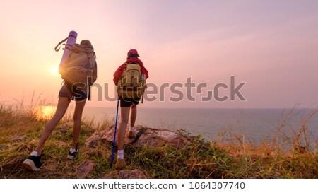 girl trekking Stock photo © adrenalina