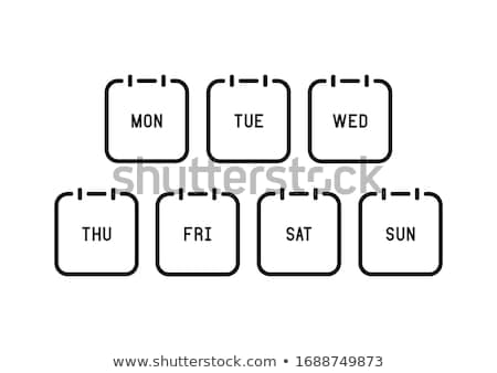 Days of the week - monday Stock photo © stevanovicigor