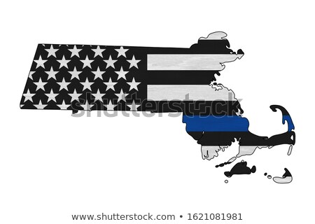 Massachusetts MA USA United States America Flag Map 3d Illustrat Stock photo © iqoncept