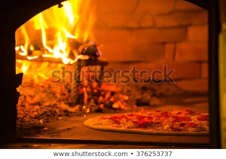 pizza · tuğla · fırın · pizzacı · restoran - stok fotoğraf © fotoyou