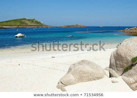 St. Martin's Lower Town beach and quay, Isles of Scilly. Stock photo © latent