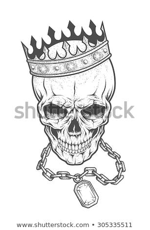Cranio prezioso pietre tiara diamante occhi Foto d'archivio © Karamio