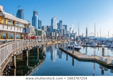 Seattle downtown buildings and architecture. Stock photo © Rigucci