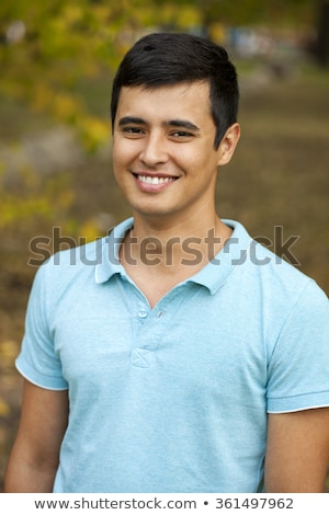 Turkish young man with friends. Stock photo © lubavnel