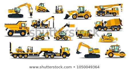 Nagy citromsárga buldózer vektor terv illusztráció Stock fotó © RAStudio