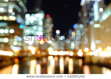 Light of the city in the night, blured Stock photo © zurijeta