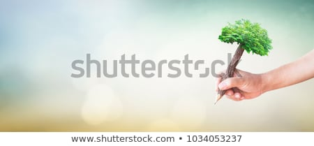 student or writer on the nature concept stock photo © artfotodima