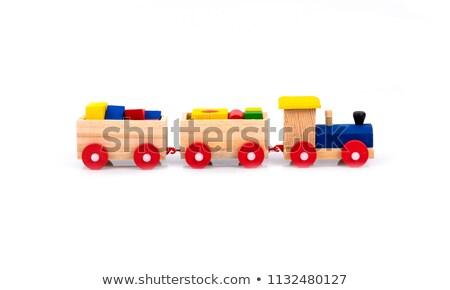 дети · поезд · 3d · иллюстрации · игрушку · ребенка · весело - Сток-фото © jonnysek