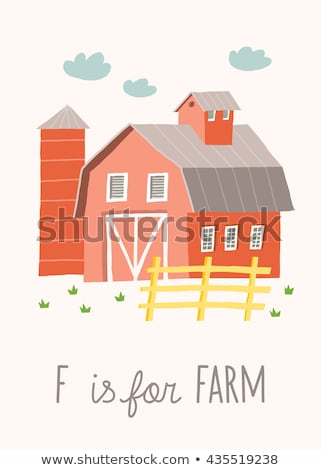 flashcard letter f is for farm stock photo © bluering