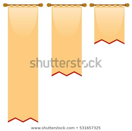 Tres bandera medieval estilo ilustración fondo Foto stock © bluering