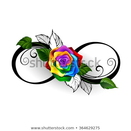 Infinity symbol with rainbow rose Stock photo © blackmoon979