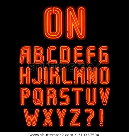 glowing double neon red alphabet stock photo © voysla