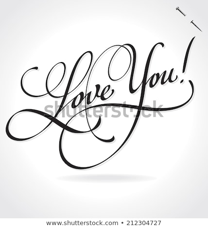 text I love you in a note Stock photo © nito