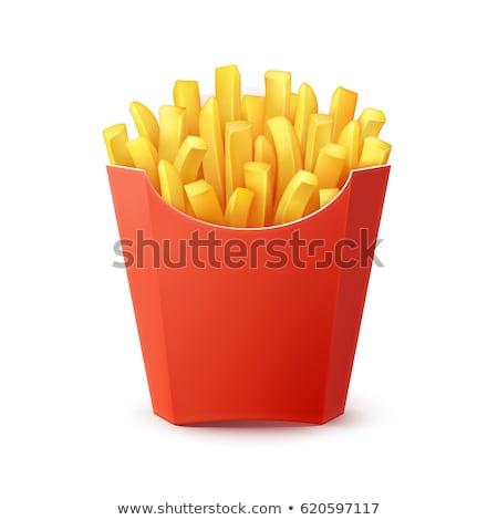 картофель фри белый изолированный реалистичный иллюстрация кухне Сток-фото © ConceptCafe