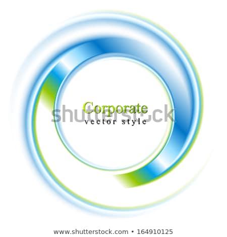 Resumen brillante azul verde círculo logo Foto stock © saicle