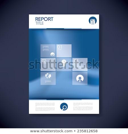 şirket kapak sayfa dergi kitapçık dizayn Stok fotoğraf © SArts