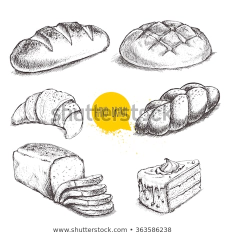 Loaf of bread in hand Stock photo © artjazz