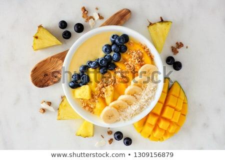 smoothie · bol · fond · été · déjeuner · banane - photo stock © M-studio