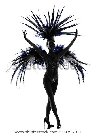 Showgirl vektör siluet güzel sahne kadın Stok fotoğraf © illustrart