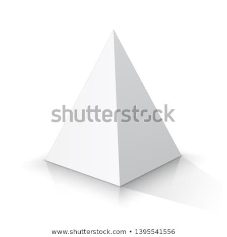 3D piramidy szablon realistyczny cień doskonały Zdjęcia stock © Mediaseller