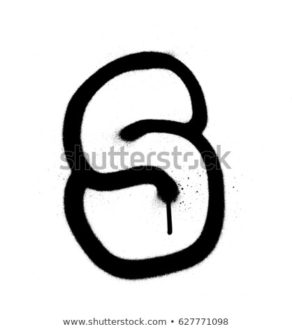 graffiti Bubble Font number 5 in black on white Stock photo © Melvin07