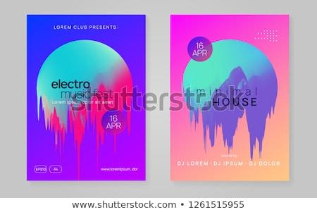 electro sound club music flyer template design Stock photo © SArts