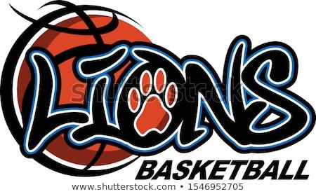 lion basketball ball sports mascot stock photo © krisdog