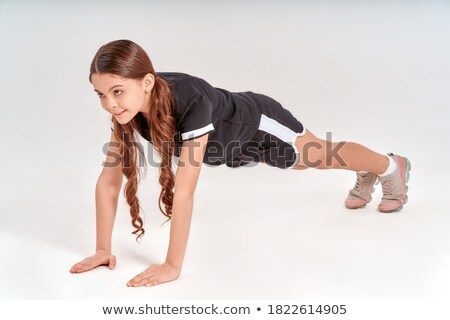Portrait of teenage girl in ready position Stock photo © wavebreak_media
