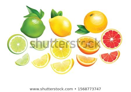 Verde pomelo mitad rebanadas blanco alimentos Foto stock © Digifoodstock