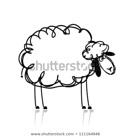 White sheep with happy face Stock photo © bluering