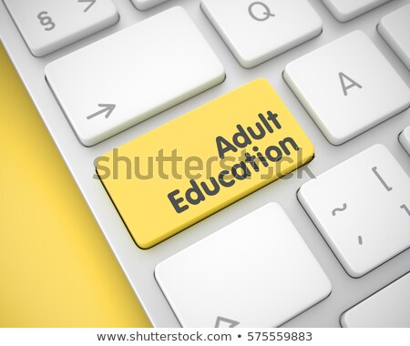 Keyboard with Yellow Key - Adult Education. 3D Illustration. Stock photo © tashatuvango