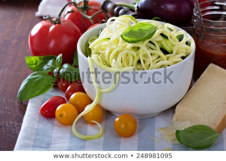 Stock photo: raw zucchini noodles