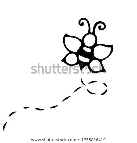 bee · cartoon · vector · afbeelding · Geel · jas - stockfoto © olena