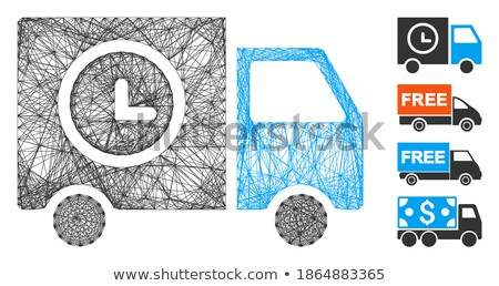 Szállítmány furgon ikon szürke ikonikus szimbólum Stock fotó © ahasoft